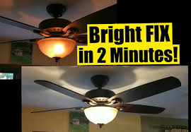 2 min fix for dim ceiling fan lights safe no wiring wattage limiter stays you