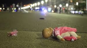 a doll is seen at the scene of the on the promenade des anglais