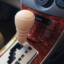 product details of car auto gear knob covers leather gear stick shifter shift knob cover protector brand new