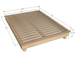 Image of: King Size Bed Frame Dimensions Inches