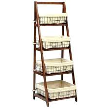 shelf with wire baskets ladder with baskets shelf ladder shelf with wire baskets small under shelf