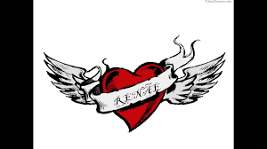 Free Name Designs For Tattoos 6564 Free Designs Heart With Wings And Name Wallpaper Tattoo