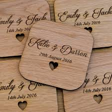Wedding Coasters Wooden Wedding Table Coaster Favours Personalised Mr And Mrs