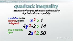 solving quadratic inequalities in one variable lesson transcript study com
