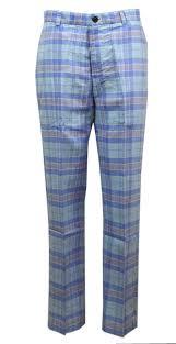Light Blue Plaid Pants Amazon Com Brooks Brothers Mens Clark Plaid Trousers Pant