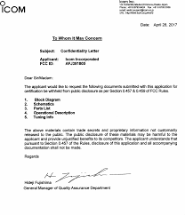381800 Ic R8600 Cover Letter Long Term Confidentiality Request