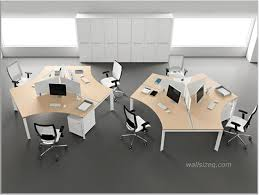 fashionable office design. fashionable modern office furniture design idea with unique cream tables white chairs black accents and s