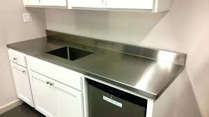 gorgeous stainless countertops countertop used stainless steel