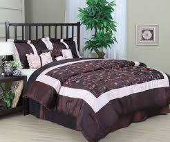 excellent design ideas using rectangular black wooden headboard beds in brown motif comforter also with round