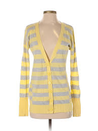 Details About Express Women Yellow Cardigan Sm Petite