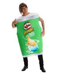 Pringles™-Dose Sour Cream & Onion Kostüm für Erwachsene grün-weiss: Kostüme  für Erwachsene,und günstige Faschingskostüme - Vegaoo