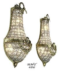 sconces wall sconce with crystals vintage hardware lighting antique french basket style crystal wall sconce