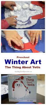 preschool art table. Yeti Winter Craft For Preschoolers Preschool Art Table T