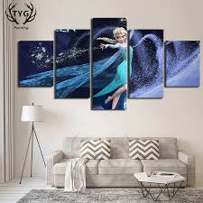 Online Shop <b>5 Pieces</b> Elsa Frozen <b>Movie</b> Poster Decorative Art On ...