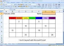 Calendar To Fill In Excel Calendar Kindergarten Lesson They Fill In The Blan