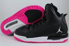 nike shoes for girls black and white. nike air jordan sc-3 gg black/white/deadly pink hi high women nike shoes for girls black and white