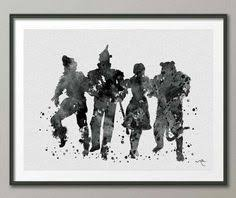 on wizard of oz wall art with wizard of oz watercolor art print movie and books