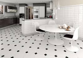 interesting floor tiles design for living room white black tile floor white chairs white round table