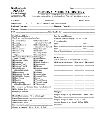 health history forms 21 sample medical history forms sample forms