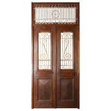 painted double front door. Set Of French Painted Double Entry Door With Iron Insert For Sale Front A