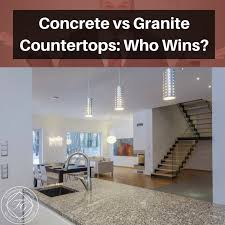 concrete vs granite countertops who wins