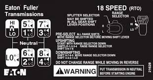 18 Speed Shift Pattern