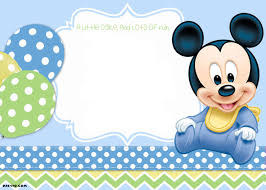 baby mickey mouse invitations birthday baby mickey mouse invitation template yourweek fd on st birthday