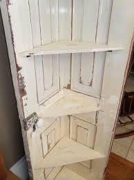 Corner Cabinet Shelving Unit Interesting Dishfunctional Designs Repurposed Doors Pinterest Corner Shelf