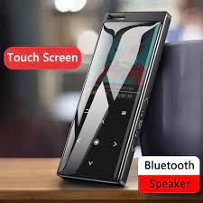 2021 yeni Bluetooth4.0 MP4 çalar hoparlör ile dokunmatik düğme kayıpsız  HiFi müzik çalar e kitap, FM radyo, video oynatıcı|MP4 Player