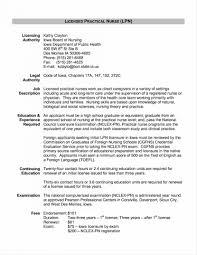 Lpn Sample Resume Practical Nursing Templates Skills Examples And