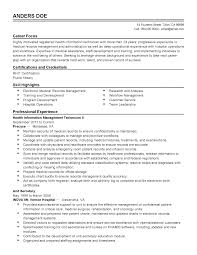 Sample Resume For Medical Records Clerk Cover Letters Electronic