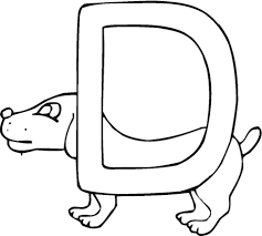 Small Picture Letter D is for Dog coloring page Free Printable Coloring Pages