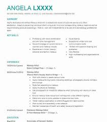 Makeup Artist Resume Best Makeup Artist Resume Objectives Resume Sample LiveCareer
