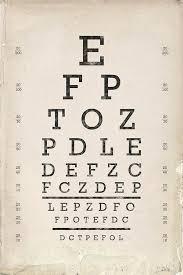 Eye Chart Poster Vintage Eye Chart