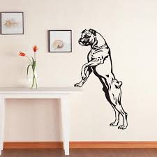 crafty design ideas dog wall art home remodel large size boxer decals vinyl stickers decor pets