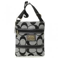 Nice Coach Legacy Swingpack In Signature Small Grey Crossbody Bags AV
