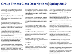 here for group fitness cl descriptions