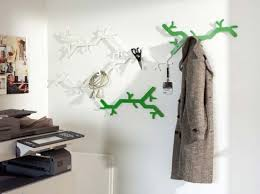 Cute Wall Hook Design : Unique Wall Hooks Tree Design White And Green