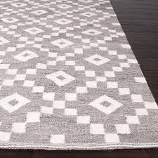 flat weave geometric pattern grey ivory wool area rug view full size