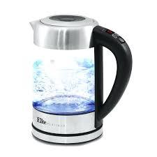 glass electric tea kettle elite by maxi platinum qt programmable cordless glass electric tea kettle electric