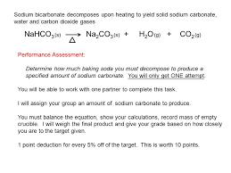 5 sodium bicarbonate decomposes