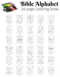 Alphabet coloring & activity sheets. Bible Alphabet Coloring Pages 100 Free