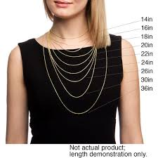 Chain Length Chart Inches Shop 14k Yellow Gold 1 5 Mm Rope Chain Necklace 16 30 Inch