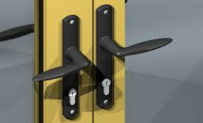 the dummy lock can be operated from inside the handle retracts the shoot bolts top and bottom