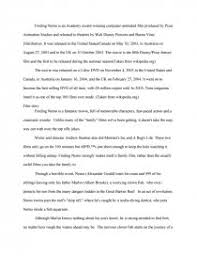 finding nemo essays zoom