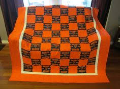 Chicago Bears quilt i designed and made for my brother. | Chicago ... & Chicago Bears Quilt Adamdwight.com