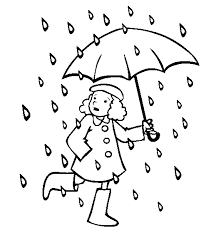 Small Picture rain and a little girl wiht an unbrellato color Animations A 2 Z