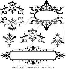 black vintage frame design. Digital Collage Of Vintage Black And White Frames Design Elements Posters, Art Prints Frame D