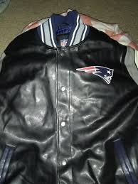 leather patriots jacket xlg