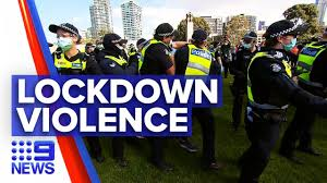 Demonstrators in melbourne clashed with police on saturday after protesting the city's strict lockdown rules.melbourne was put under sudden restrictions. Coronavirus Violence Erupts Between Anti Lockdown Protesters And Police 9news Australia Youtube